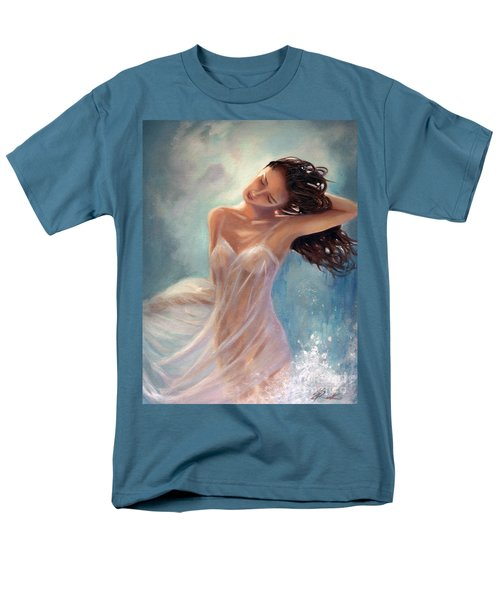 Men's T-Shirt  (Regular Fit) featuring the painting Ocean Serenade by Michael Rock