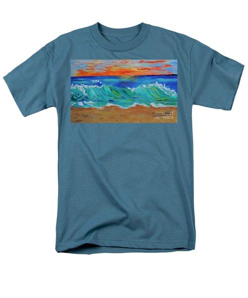 Ocean Sunset Men's T-Shirt  (Regular Fit) by Haleh Mahbod