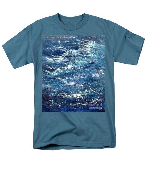 Ocean's Blue Men's T-Shirt  (Regular Fit) by Valerie Travers