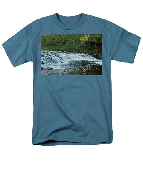 Ocqueoc Falls_9535 Men's T-Shirt  (Regular Fit) by Michael Peychich