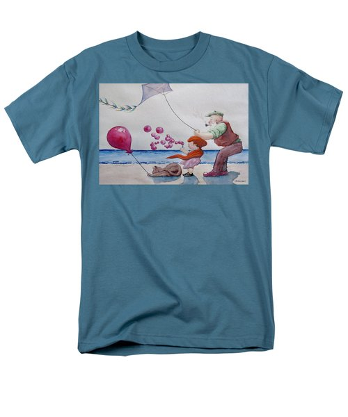 Men's T-Shirt  (Regular Fit) featuring the painting Oh My Bubbles by Geni Gorani