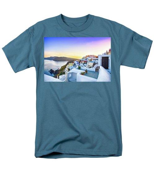 Oia, Santorini - Greece Men's T-Shirt  (Regular Fit) by Stavros Argyropoulos