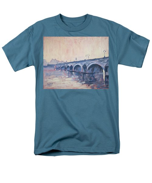 Old Bridge Of Maastricht In Warm Diffuse Autumn Light Men's T-Shirt  (Regular Fit) by Nop Briex