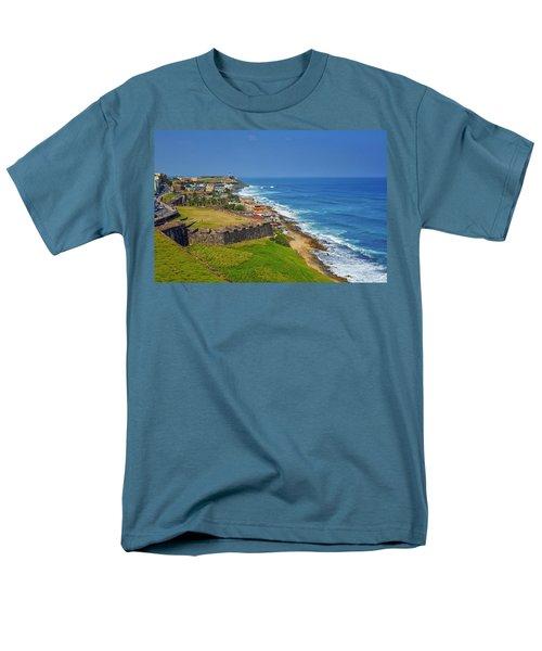 Old San Juan Coastline Men's T-Shirt  (Regular Fit) by Stephen Anderson
