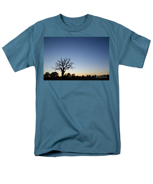 Old Tree Silhouette Men's T-Shirt  (Regular Fit) by Kennerth and Birgitta Kullman