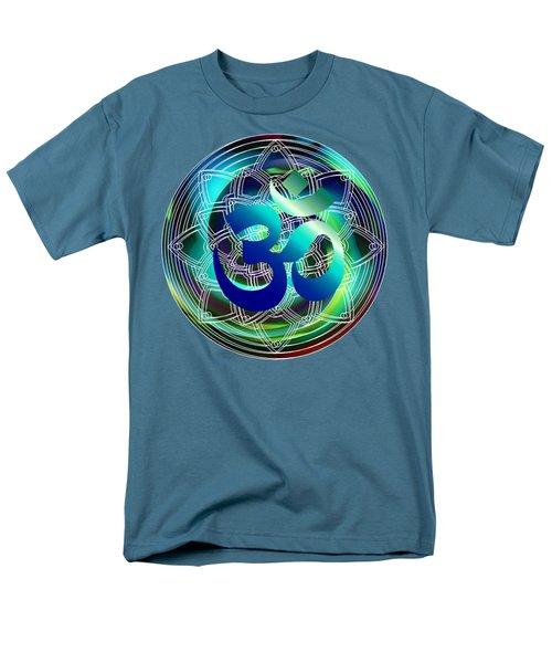 Men's T-Shirt  (Regular Fit) featuring the digital art Om Vibration Ocean by Robert G Kernodle