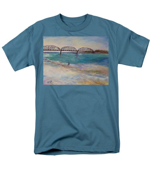 On The Bank Men's T-Shirt  (Regular Fit) by Helen Campbell