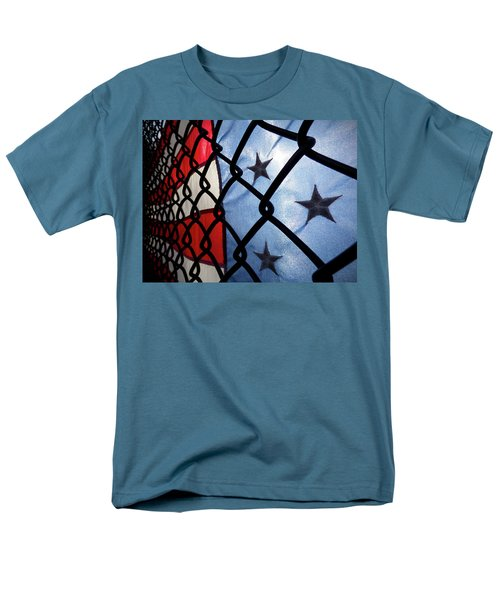 Men's T-Shirt  (Regular Fit) featuring the photograph On The Fence by Robert Geary