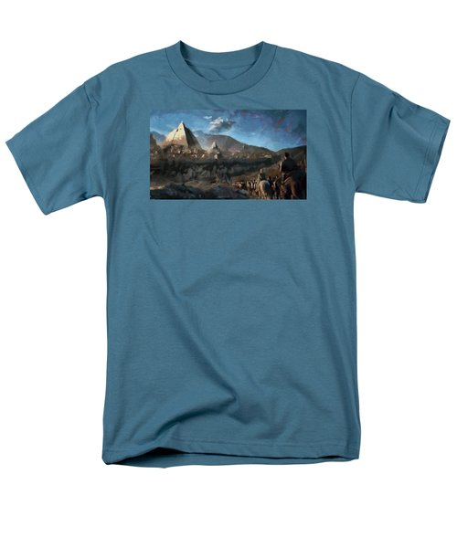 Men's T-Shirt  (Regular Fit) featuring the painting On The Road To Meereen by Mario Carini