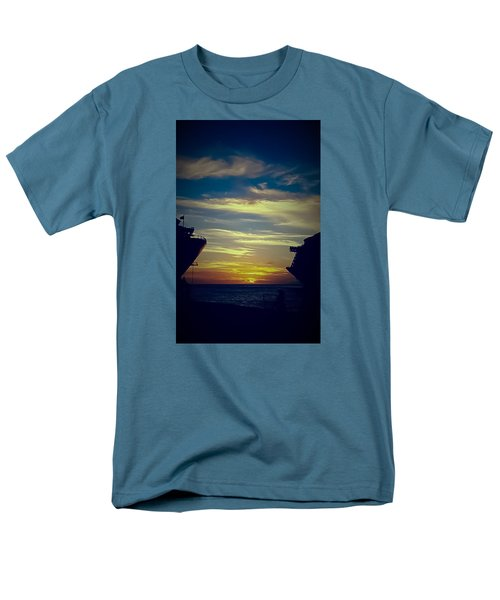 Men's T-Shirt  (Regular Fit) featuring the photograph One Last Glimpse by DigiArt Diaries by Vicky B Fuller