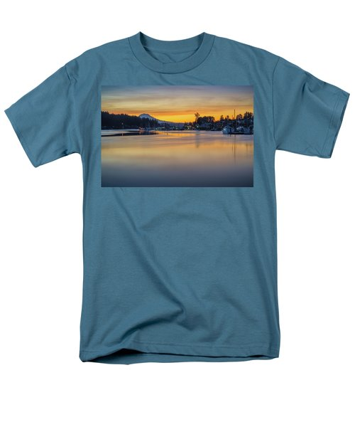 One Morning In Gig Harbor Men's T-Shirt  (Regular Fit) by Ken Stanback