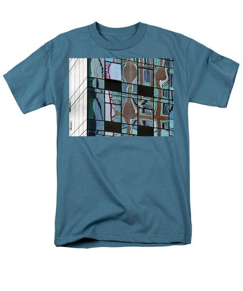 Men's T-Shirt  (Regular Fit) featuring the photograph Op Art Windows I by Marianne Campolongo