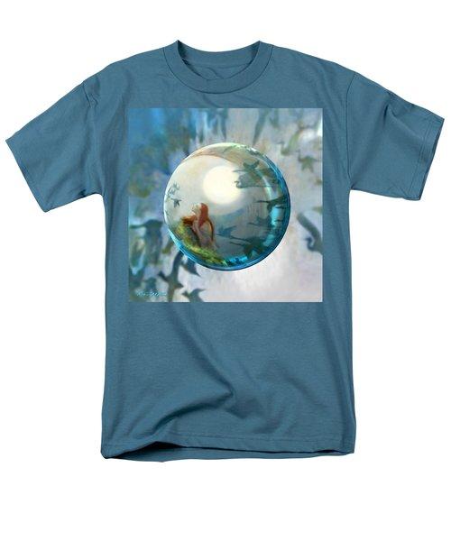 Men's T-Shirt  (Regular Fit) featuring the painting Orbital Flight by Robin Moline