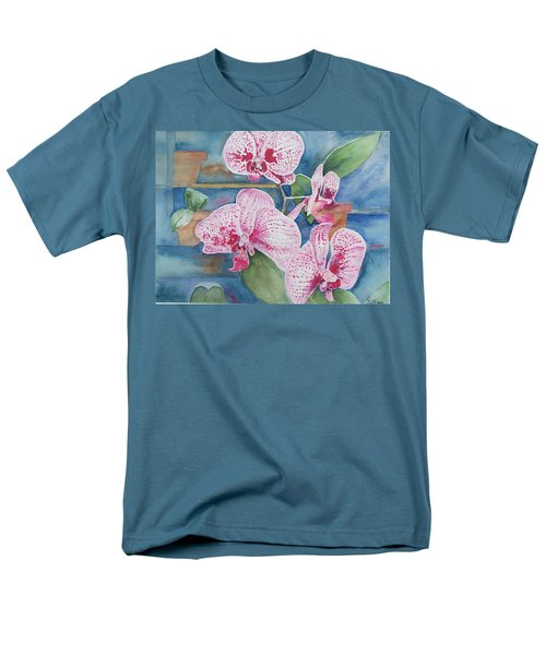 Orchids Men's T-Shirt  (Regular Fit) by Christine Lathrop