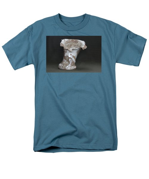 Organic Marbled Clay Ceramic Vase Men's T-Shirt  (Regular Fit) by Suzanne Gaff