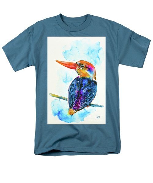 Oriental Dwarf Kingfisher Men's T-Shirt  (Regular Fit) by Zaira Dzhaubaeva