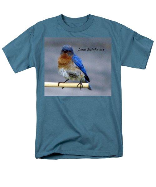 Our Own Mad Blue Bird Men's T-Shirt  (Regular Fit) by Betty Pieper