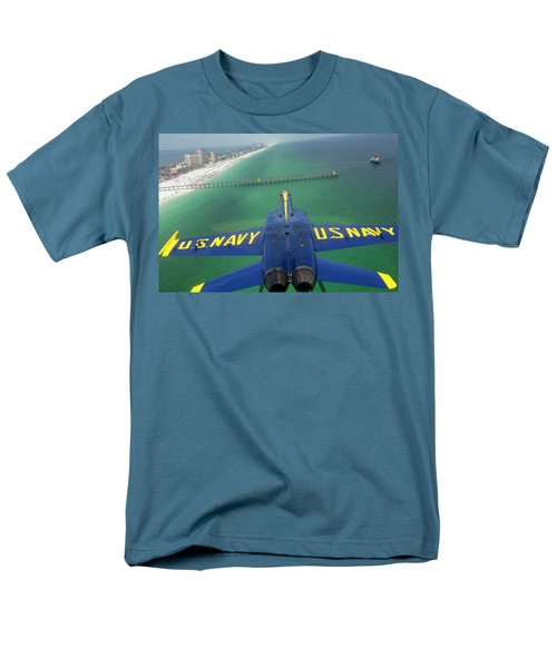 Men's T-Shirt  (Regular Fit) featuring the photograph Over Pensacola Beach by Specialist 3rd Class Andrew Johnson