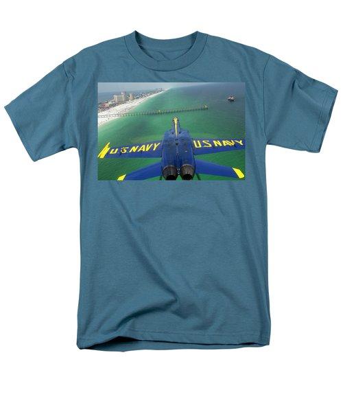 Over Pensacola Beach Men's T-Shirt  (Regular Fit)