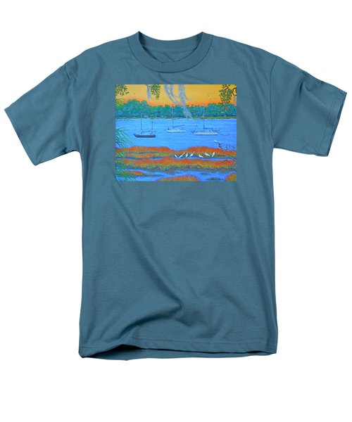 Men's T-Shirt  (Regular Fit) featuring the painting Overnight In Beaufort by Dwain Ray
