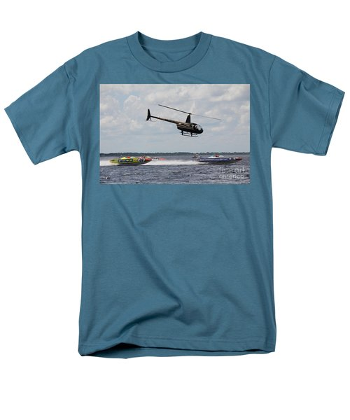 Men's T-Shirt  (Regular Fit) featuring the photograph P1 Powerboats by David Grant