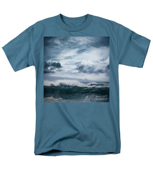 Men's T-Shirt  (Regular Fit) featuring the photograph He Inoa Wehi No Hookipa  Pacific Ocean Stormy Sea by Sharon Mau