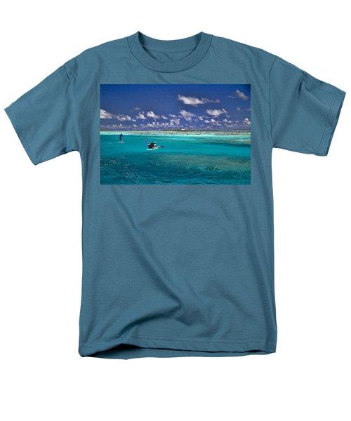 Paddling In Moorea Men's T-Shirt  (Regular Fit) by David Smith