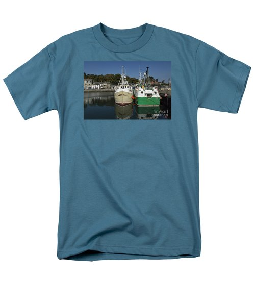 Padstow Fishing Boats Men's T-Shirt  (Regular Fit) by Brian Roscorla