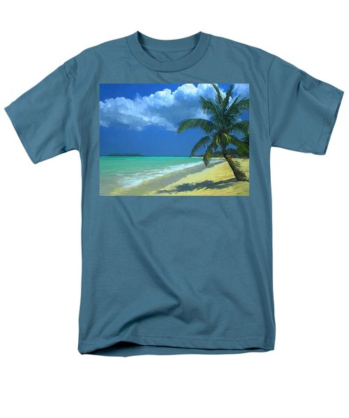 Men's T-Shirt  (Regular Fit) featuring the painting Palm Beach In The Keys by David  Van Hulst