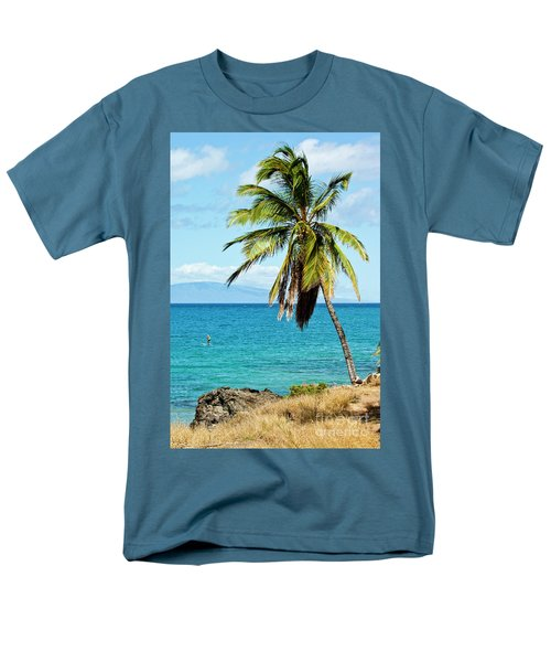 Men's T-Shirt  (Regular Fit) featuring the photograph Palms On Hawaiian Beach 12 by Micah May