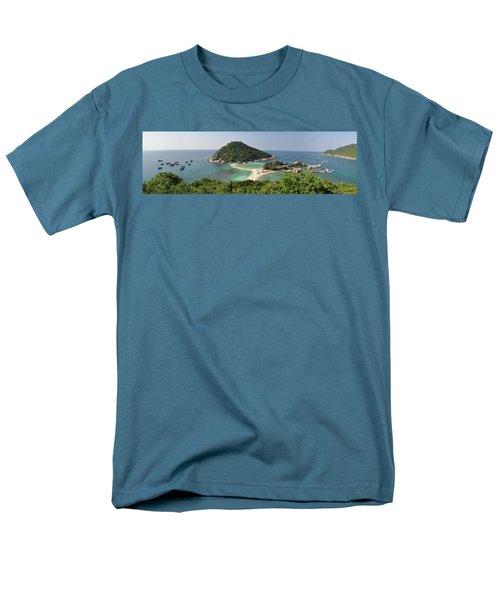 panorama Koh Nang Yuan Men's T-Shirt  (Regular Fit) by Sushko