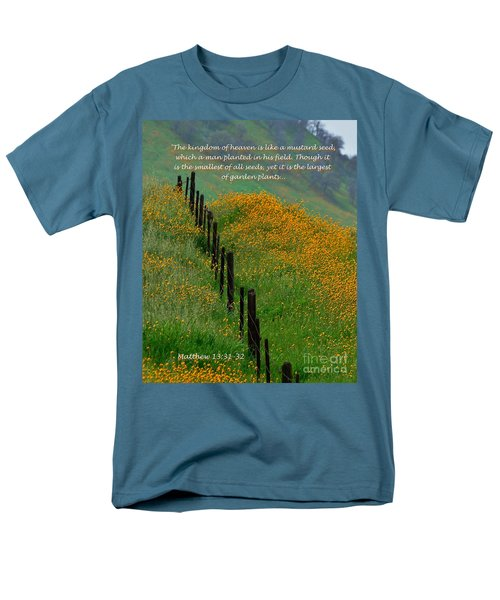 Men's T-Shirt  (Regular Fit) featuring the photograph Parable Of The Mustard Seed by Debby Pueschel