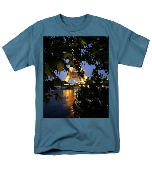 Paris By Night Men's T-Shirt  (Regular Fit) by Nancy Ann Healy