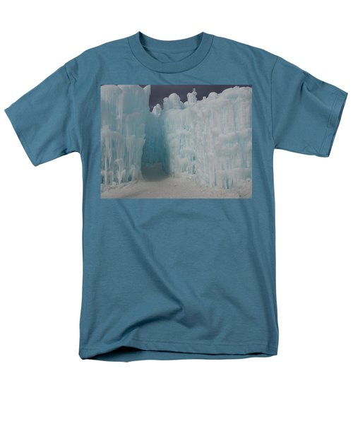 Passageway In The Ice Castle Men's T-Shirt  (Regular Fit) by Catherine Gagne