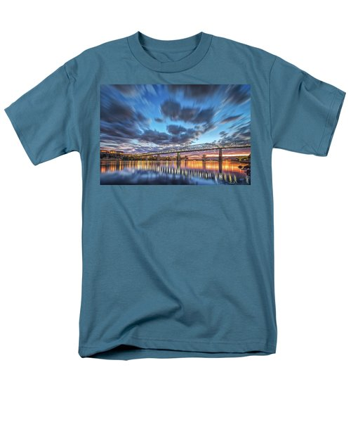 Passing Clouds Above Chattanooga Men's T-Shirt  (Regular Fit) by Steven Llorca