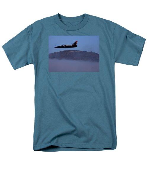 Patriot Jet Skims The Fog Over San Francisco Bay Men's T-Shirt  (Regular Fit)