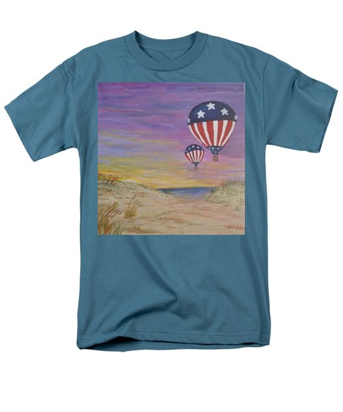 Patriotic Balloons Men's T-Shirt  (Regular Fit) by Debbie Baker