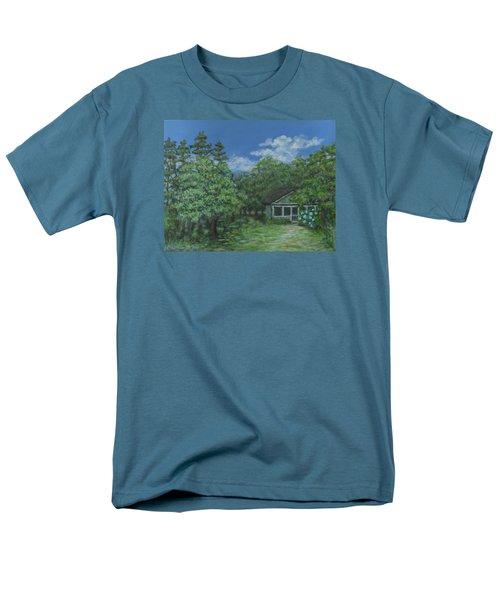 Men's T-Shirt  (Regular Fit) featuring the painting Pawleys Island Blue by Kathleen McDermott