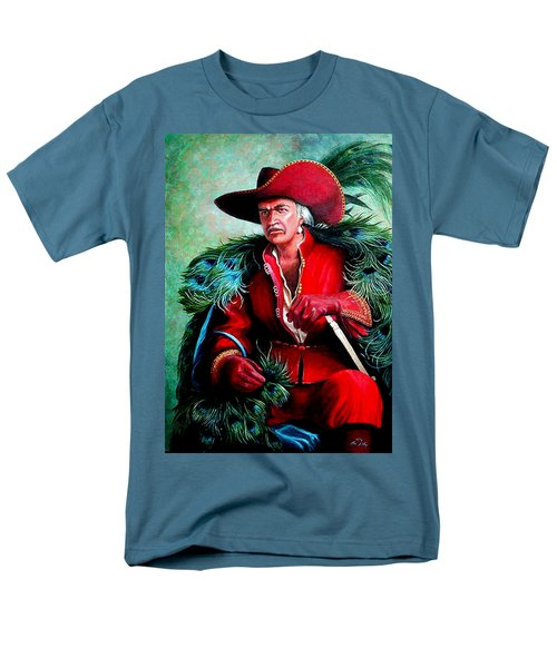 Men's T-Shirt  (Regular Fit) featuring the painting Peacock Feathers Connery by Loxi Sibley