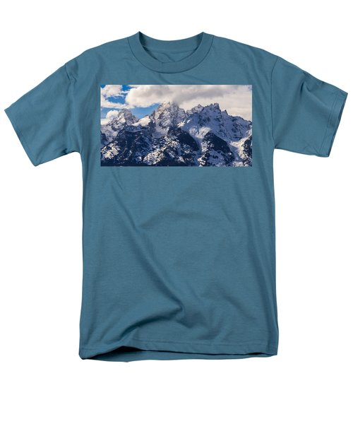 Men's T-Shirt  (Regular Fit) featuring the photograph Peaks Of The Tetons by Serge Skiba