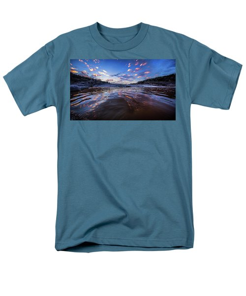 Peddernales Falls Sunset #1 Men's T-Shirt  (Regular Fit) by Micah Goff