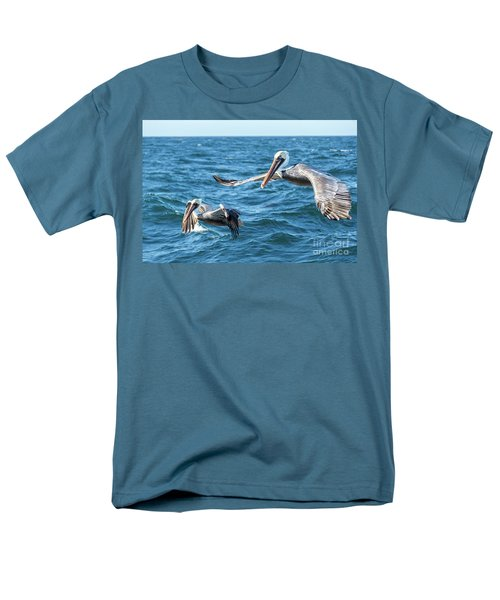 Pelicans Flying Men's T-Shirt  (Regular Fit) by Robert Bales