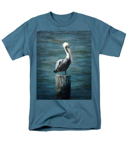 Perched Pelican Men's T-Shirt  (Regular Fit) by Carla Parris