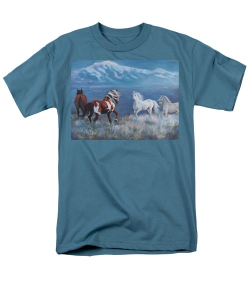 Phantom Of The Mountains Men's T-Shirt  (Regular Fit) by Karen Chatham
