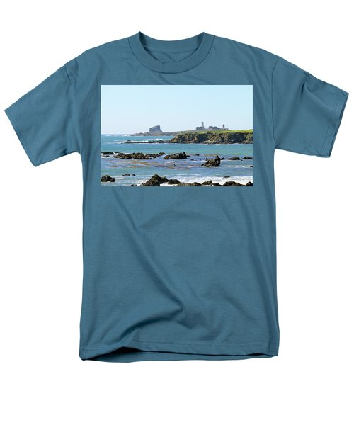 Men's T-Shirt  (Regular Fit) featuring the photograph Piedras Blancas Lighthouse by Art Block Collections