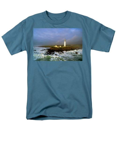 Men's T-Shirt  (Regular Fit) featuring the photograph Pigeon Point Lighthouse by Evgeny Vasenev