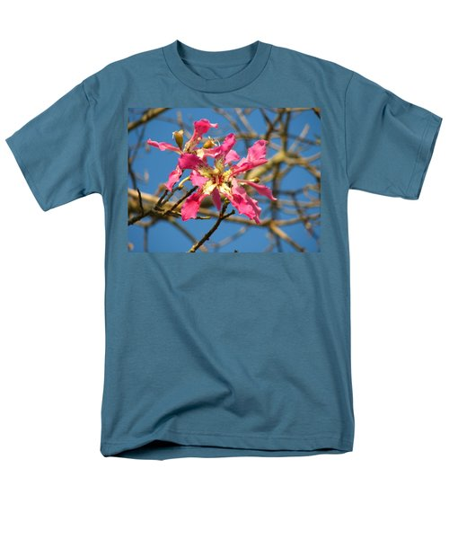 Men's T-Shirt  (Regular Fit) featuring the photograph Pink Orchid Tree by Carla Parris