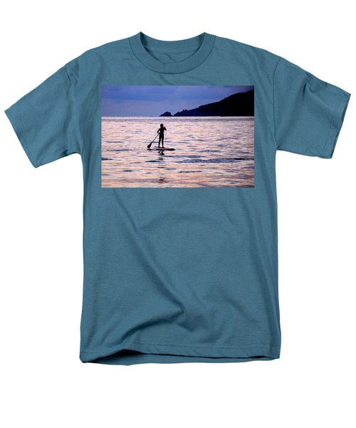 Men's T-Shirt  (Regular Fit) featuring the photograph Pink Water Girl by Jim Walls PhotoArtist