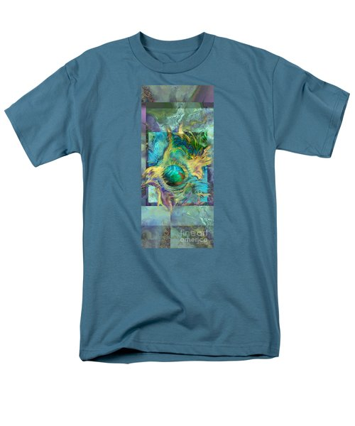 Men's T-Shirt  (Regular Fit) featuring the painting Planetary Collision 2 by Ursula Freer