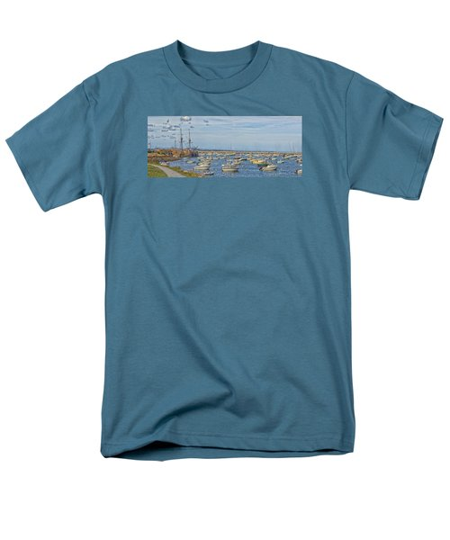 Men's T-Shirt  (Regular Fit) featuring the photograph Plymouth Harbor In September by Constantine Gregory